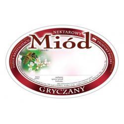 Etykieta owalna na miód gryczany – 100 szt.