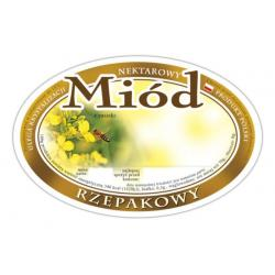 Etykieta owalna na miód rzepakowy – 100 szt.