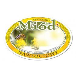 Etykieta owalna na miód nawłociowy – 100 szt.