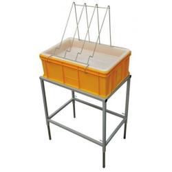 Stół do odsklepiania z wanienką plastikową i sitem plastikowym – wys. 200mm