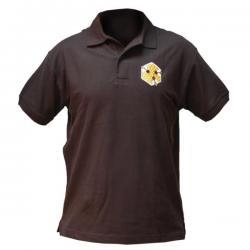 Koszulka polo z haftem (czarna) – męska
