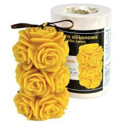 Forma silikonowa Przekwitła róża – wys. 11,5cm