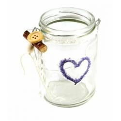Lampion szklany z uchwytem
