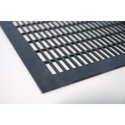 Krata odgrodowa gruba Wielkopolska czarna pozioma – 420x420mm