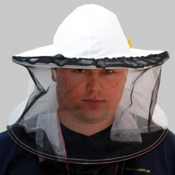 Kapelusz pszczelarski siatka z tyłu, z przodu siatka ściągana