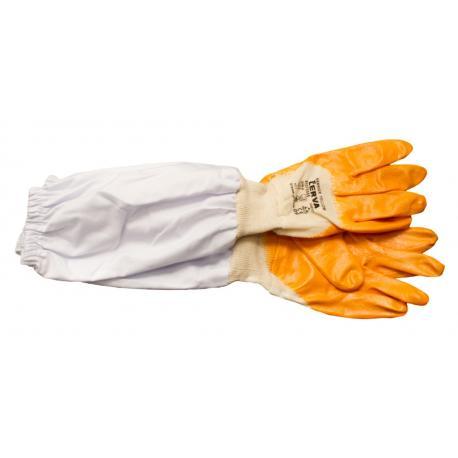 Rękawice gumowe z płótnem