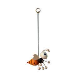 Pszczółka - zawieszka drewniana na sprężynie