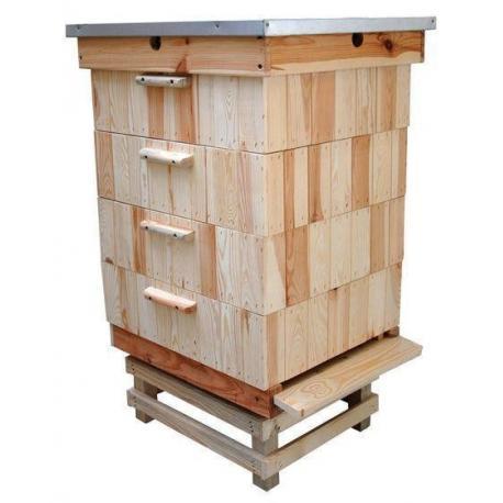 Ul Dadant 1/2 drewniany – 4 korpusy