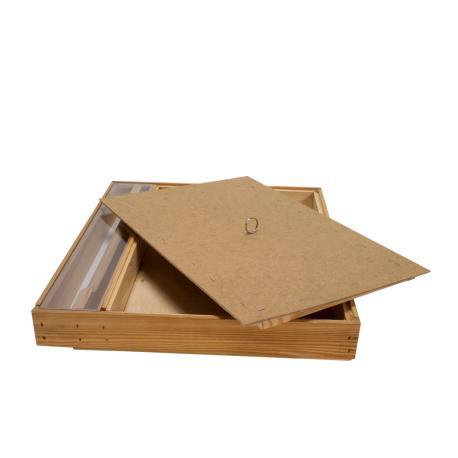 Podkarmiaczka górna Dadant – drewniana - pojemność ok. 5l