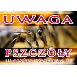 """Tablica ostrzegawcza – """"Uwaga Pszczoły"""""""