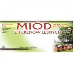 Etykieta samoprzylepna na miód z terenów leśnych – 100 szt.