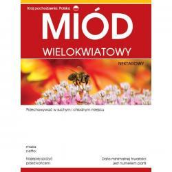 Paczka etykiet na miód wielokwiatowy – 100 szt.