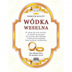 Paczka etykiet na wódkę weselną – 50 szt.