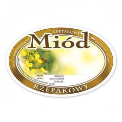 Paczka etykiet owalnych na miód rzepakowy – 100 szt.