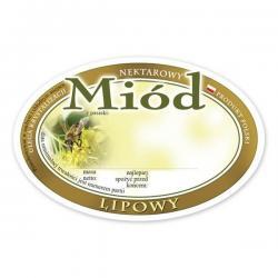 Paczka etykiet owalnych na miód lipowy – 100 szt.