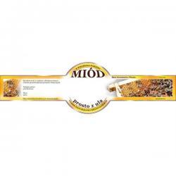 Paczka etykiet małych okrągłych na miód prosto z ula – 100 szt.