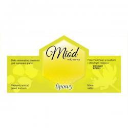 Paczka etykiet na miód lipowy – 100 szt.
