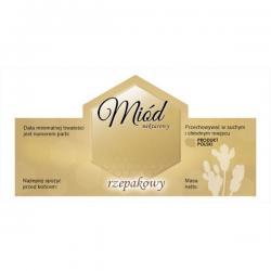 Paczka etykiet na miód rzepakowy – 100 szt.
