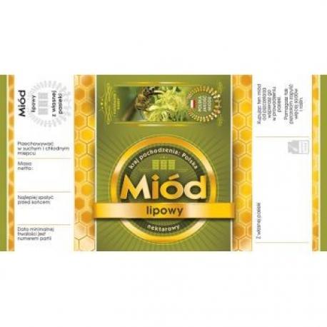Paczka etykiet z banderolą na miód lipowy – 100 szt.