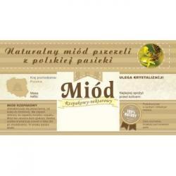 Paczka etykiet z banderolą na miód rzepakowy – 100 szt.