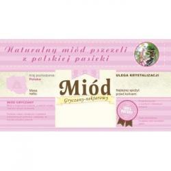 Paczka etykiet z banderolą na miód gryczany – 100 szt.