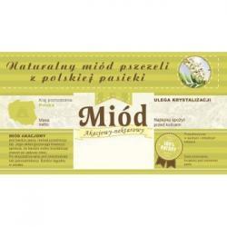 Paczka etykiet z banderolą na miód akacjowy – 100 szt.