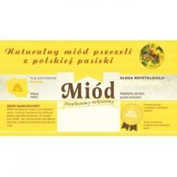 Paczka etykiet z banderolą na miód nawłociowy – 100 szt.
