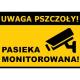 """Tablica ostrzegawcza – """"Uwaga pszczoły! Pasieka monitorowana"""" - XXL"""