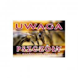 """Duża tablica ostrzegawcza - """"Uwaga pszczoły, groźba pożądlenia"""" - XXL"""