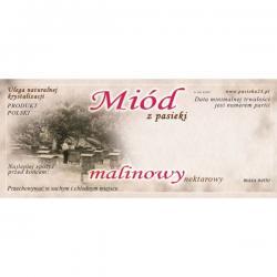 Paczka etykiet na miód malinowy – 100 szt.