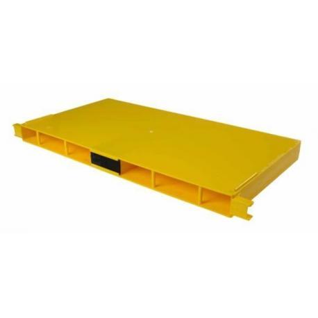 Podkarmiaczka ramkowa Dadant/Langstroth – żółta plastikowa 2,5l