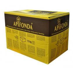 Apifonda – fondant pszczeli do podkarmiania wiosennego –  Sudzucker – karton 15kg x 48 szt. - ( Cena za 1 kg - 5,21 zł )
