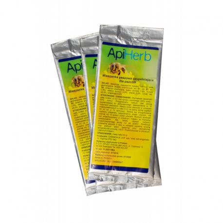 Api Herb 40g - mieszanka paszowa uzupełniająca dla pszczół, przeciwko nosemozie