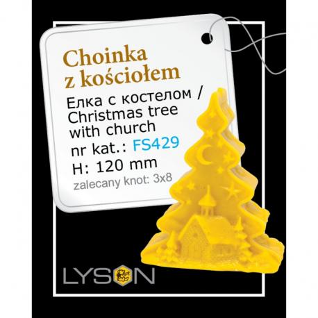 Forma silikonowa - Choinka z kościołem