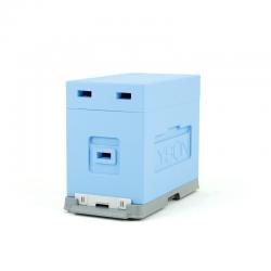 Ul 6 ramkowy do wychowu pakietów Dadant z dennicą plastikową malowany z wręgą