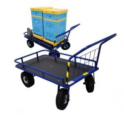 Wózek pasieczny platformowy – ze skrętnymi kołami