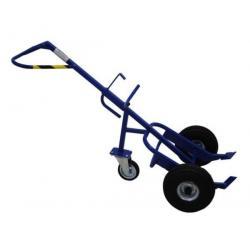 Wózek do beczek z kółkiem podporowym