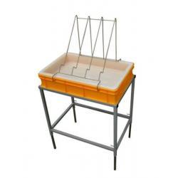 Stół do odsklepiania z wanienką plastikową i sitem plastikowym – wys. 100mm
